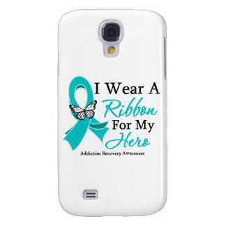 Addiction Recovery I Wear a Ribbon For My Hero Galaxy S4 Case