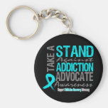 Addiction Recovery Take A Stand Against Addiction Key Chain