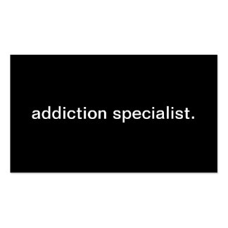 Addiction Specialist Business Cards