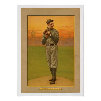 Addie Joss Cleveland Baseball 1911 Poster