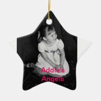 Addie's angels support group ceramic star decoration
