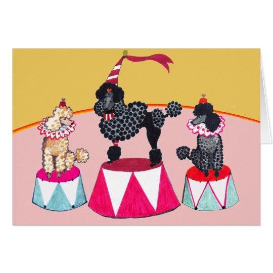 Addie's Circus Poodles Notecard