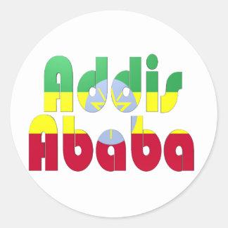 Addis Ababa, Ethiopia Classic Round Sticker