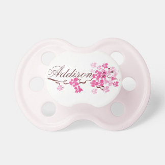 """""""Addison"""" Personalized Name Blossom Pacifier"""