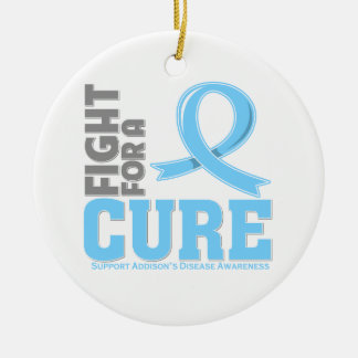 Addison's Disease Fight For A Cure Round Ceramic Decoration