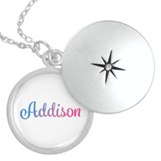 Addison Stylish Cursive Locket Necklace