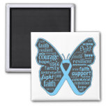 Addison's Disease Awareness Butterfly Ribbon Refrigerator Magnet