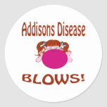 Addisons Disease Round Sticker
