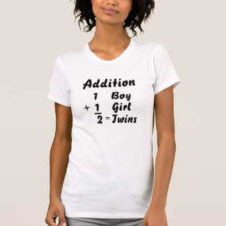 Addition - Boy/Girl Twin Tshirts