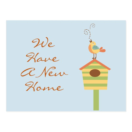 Address Change Bird House Postcard