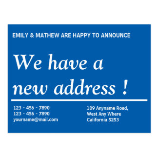 Business change of address cards idealstalist change of address postcards zazzle co uk business colourmoves