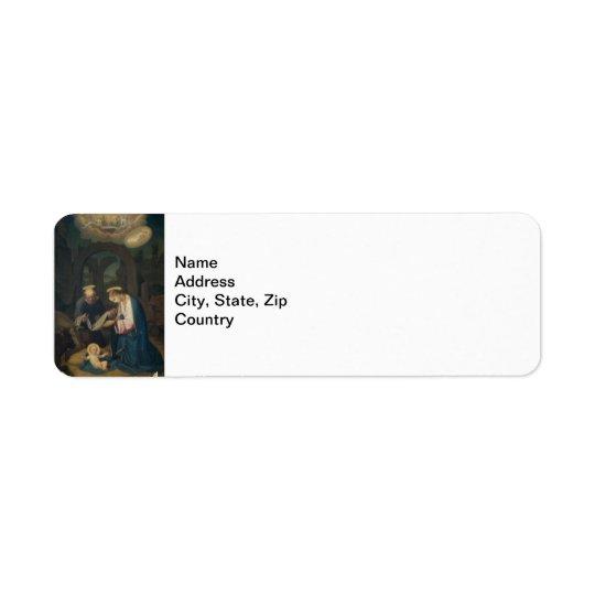 Address Label: Birth of Christ Return Address Label