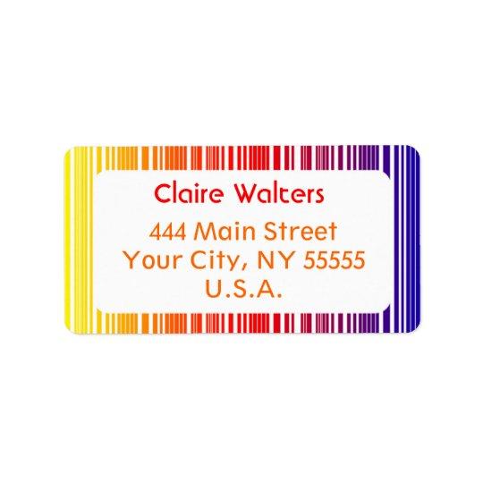 "Address Label ""Colour Grade"""