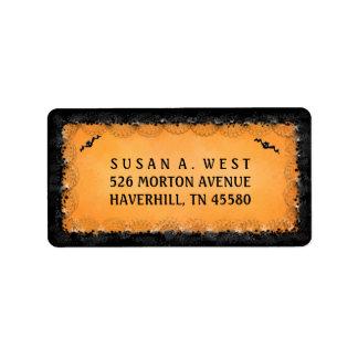 Address Label - Halloween Orange with Black Border