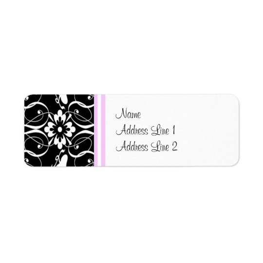 Address Label Victorian Damask