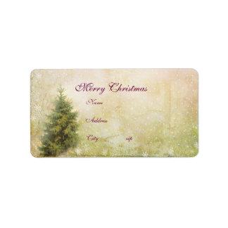 Address Label...Victorian Vintage Christmas set Label