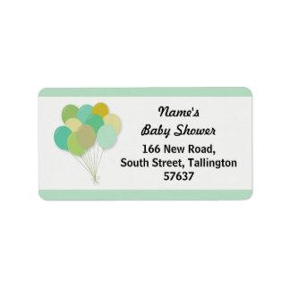 Address Labels BALLOONS Baby Shower Gender Reveal
