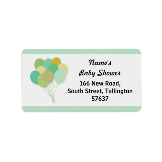 Address Labels BALLOONS Baby Shower Gender Reveal