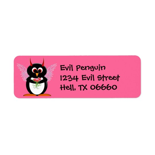 Address Labels - Evil Penguin