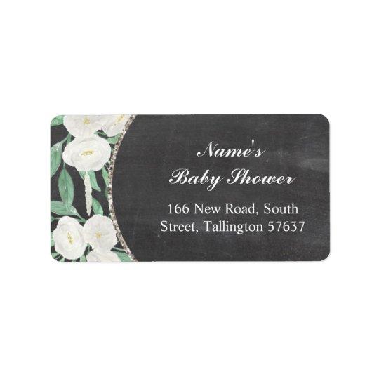 Address Labels Floral Chalk Vintage Baby Shower