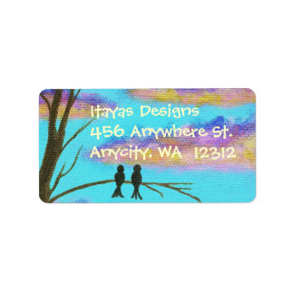 Address Labels From Original Painting