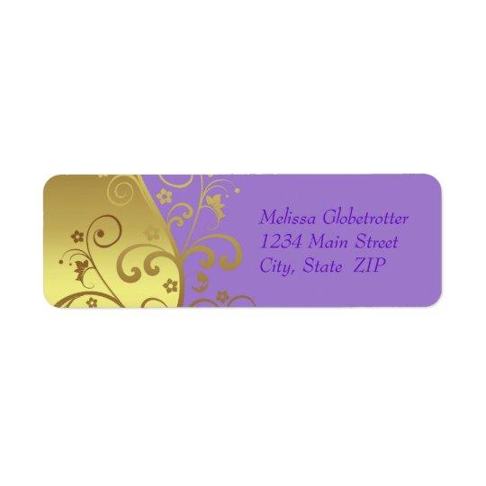 Address Labels--Gold Swirls & Lavender