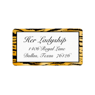 Address Labels Gone Wild (Tiger Stripe print)