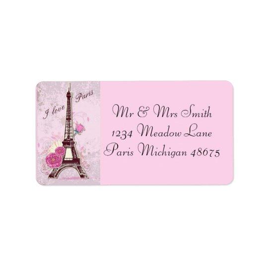 Address Labels/I Love Paris Label