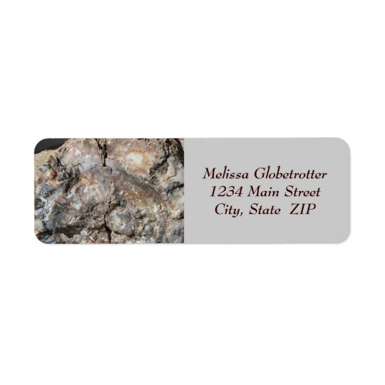 Address Labels--Petrified Wood, Front