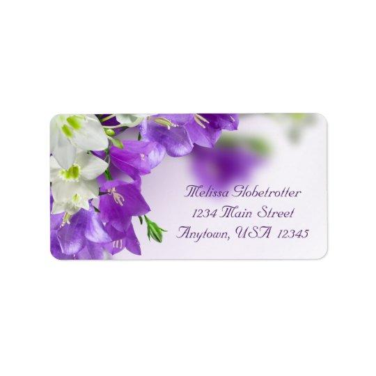 Address Labels--Purple Flowers V Label