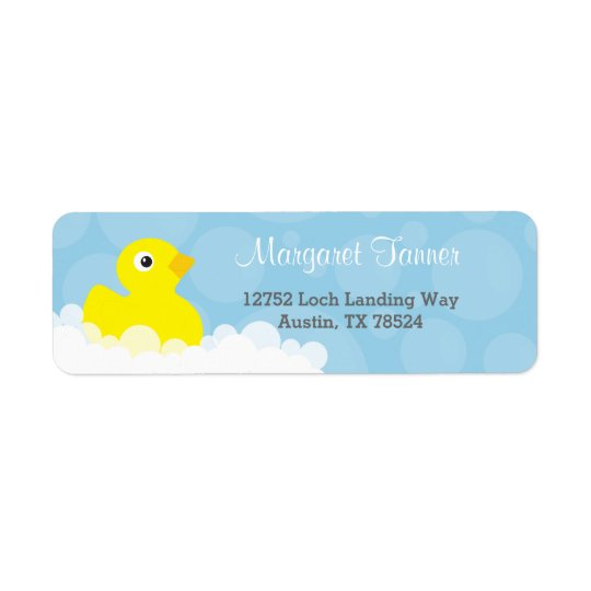 Address Labels - Rubber Ducky Design - Blue