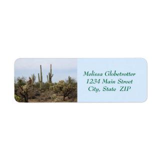 Address Labels--Various Cacti Return Address Label
