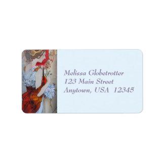 Address Labels--Victorian Lady Red Address Label