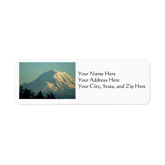 Address Labels: Winter Mt. Rainier