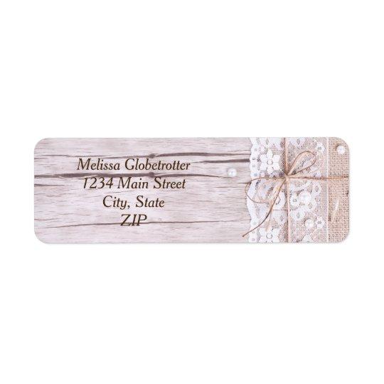 Address Labels--Wood & Lace