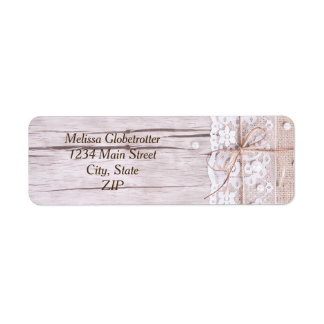 Address Labels--Wood & Lace Return Address Label