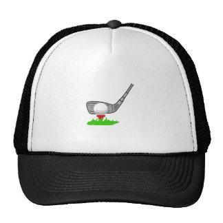 Addressing The Golf Ball Trucker Hat