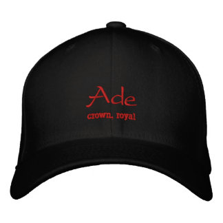 Ade Name Cap / Hat Embroidered Hats
