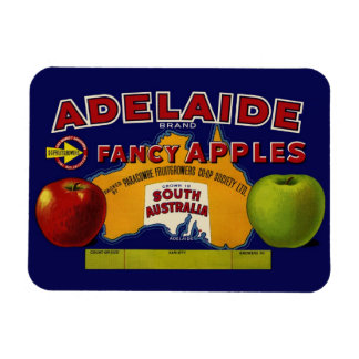Adelaide Apples Australian Label Magnet