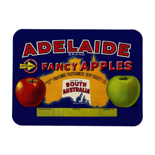 Adelaide Apples Australian Label Rectangular Photo Magnet