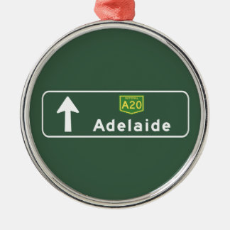 Adelaide, Australia Road Sign Christmas Ornament