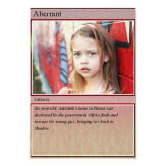 Adelaide Trading Card 9 Cm X 13 Cm Invitation Card