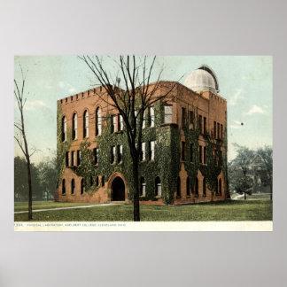 Adelbert College, Cleveland, Ohio 1910 Vintage Poster