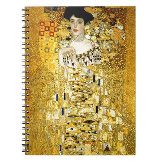 Adele Bloch-Bauer I by Gustav Klimt Art Nouveau Notebooks