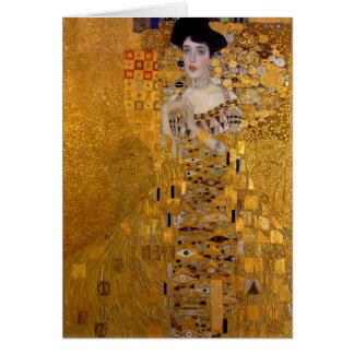 Adele Bloch-Bauer's Portrait by Gustav Klimt 1907 Card