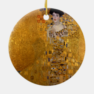 Adele Bloch-Bauer's Portrait by Gustav Klimt 1907 Christmas Ornament