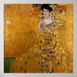 Adele Bloch-Bauer's Portrait by Gustav Klimt 1907 Poster