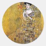 Adele Bloch-Bauer's Portrait  by Gustav Klimt Round Sticker