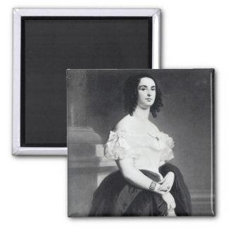 Adele Foucher  1839 Square Magnet