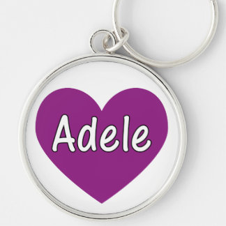 Adele Silver-Colored Round Key Ring